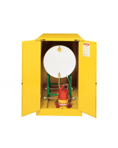 Sure-Grip® EX Horizontal Drum Safety Cabinet with Cradle Track, 55 gallon drum, 2 self-close doors, Yellow - #899320