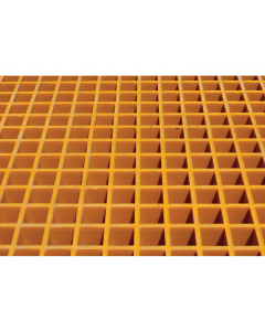 Fiberglass Floor Grating with Sump Liner, 4 Drum Locker - #915203