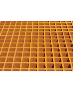 Fiberglass Floor Grating with Sump Liner, 12 Drum Locker - #915209