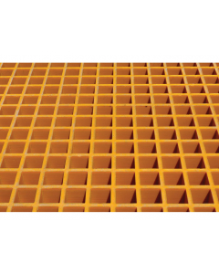 Fiberglass Floor Grating with Sump Liner, 16 Drum Locker - #915211