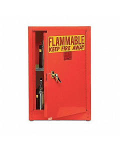 Bench Top Flammable Liquid Safety Cabinet, 4 Gal., 1 Shelf, 1 Door, Manual Close, Red - #1904RED