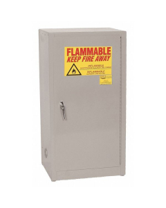 Space Saver Flammable Liquid Safety Cabinet, 16 Gal., 1 Shelf, 1 Door, Self Close, Gray - #1905GRAY
