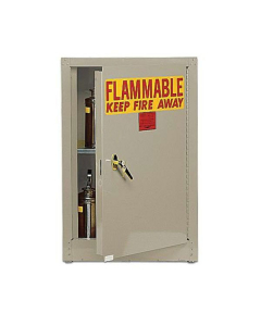 Bench Top Flammable Liquid Safety Cabinet, 4 Gal., 1 Shelf, 1 Door, Self Close, Beige - #1903BEI