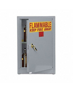 Bench Top Flammable Liquid Safety Cabinet, 4 Gal., 1 Shelf, 1 Door, Self Close, Gray - #1903GRAY