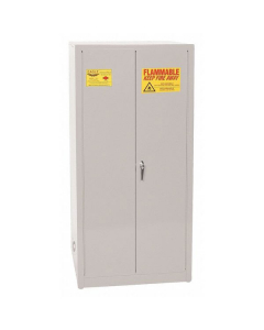 Flammable Liquid Safety Cabinet, 60 Gal. 2 Shelves, 2 Door, Manual Close, Gray - #1962GRAY