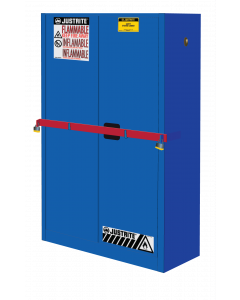45 Gal Blue High Security Flammables Safety Cabinet with Steel Bar, Cap, 2 Shelves, 2 Self-Close Doors- #SC29884B