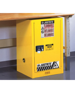 12 gallon Compac Flammable Safety Cabinet, 1 Self-Close Door - Sure-Grip® EX