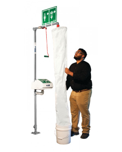 Hughes Safety Shower Test Kit with Bucket and Shower Sock - #TEST-KIT