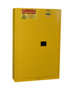 Paint & Ink Aerosol Can Safety Cabinet, 30 Gal., 5 Shelves, 2 Door, Self Close, Yellow - #YPI7710