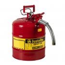 "5 Gallon Type II Safety Can, Steel, 1"" Metal Hose - AccuFlow™"