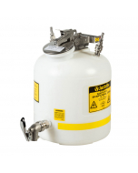 Disposal Can with faucet, Quick-Disconnect, stainless steel fittings for 3/8-in tubing, 5 gallon, polypropylene, White - #12771