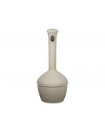 Elite Smoker's CeaseFire® Outdoor Ashtray, Cap. 4 gallon, polyethylene, Sierra Tan - #268502