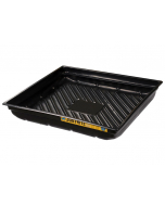 """EcoPolyBlend Spill Tray, 37-3/4""""W x 34""""D x 5-1/2""""H, indoor or outdoor use, rigid, recycled polyethylene, Black - #28718"""