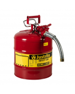 "5 Gallon Red Type II Safety Can, Steel, 1"" Metal Hose - AccuFlow™- #7250130"