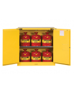 30 Gal Yellow Safety Cabinet with Can Package, 2 Self-Close Doors - Sure-Grip® EX- #8930208