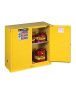 Sure-Grip® EX Flammable Safety Cabinet,  30 gallon, 1 shelf, 2 self-close doors, Yellow - #893020