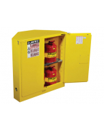 Sure-Grip® EX CORNER FLAMMABLE SAFETY CABINET, 30 gallon, 2 SELF-CLOSE DOORS, Yellow - #893120