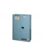 ChemCor® Corrosives/Acids Safety Cabinet, 45 gallon, 2 Self-Close Doors, Blue - #8945222