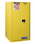 Sure-Grip® EX Flammable Safety Cabinet, 60 gallon, 1 bi-fold self-close door, Yellow - #896080