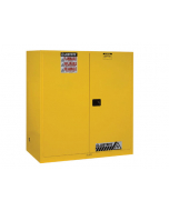 Sure-Grip® EX Vertical Drum Safety Cabinet and Drum Support, 110 gallon  2 self-close doors, Yellow - #899120