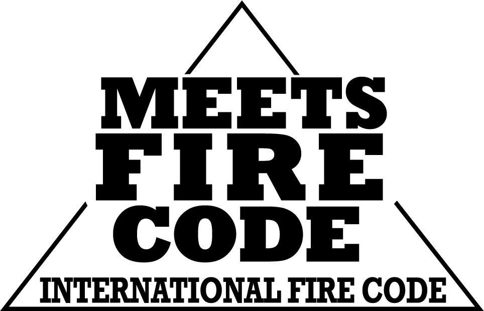 Conforme à Code international d'incendie
